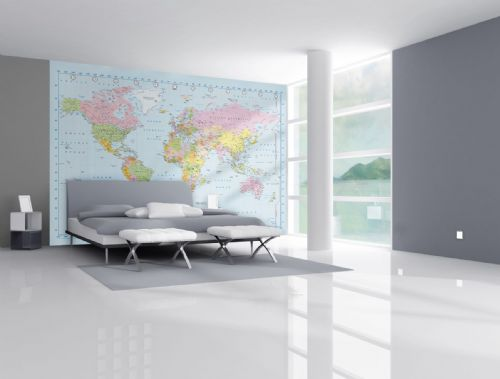 GIANT WALLPAPER WALL MURAL WORLD MAP MODERN THEME DESIGN